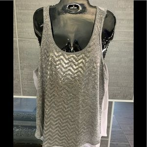 Gray and  Silver fashion tank